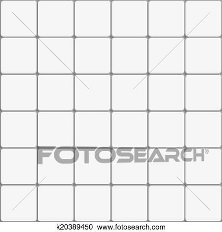 Seamless White Square Ceramic Tiles