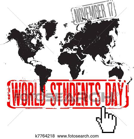 World students day Clip Art