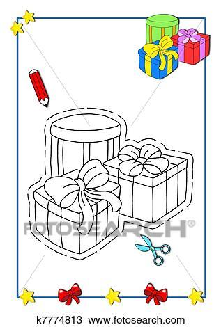Dibujo - navidad, a, ser, color, el, regalos k7774813 - Buscar Clip ...
