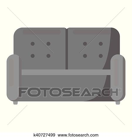 Clip Art Sofa Icon Of Vector Ilration For Web And Mobile Fotosearch Search
