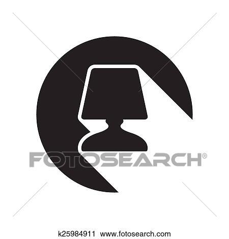 Clipart - symbol, -, nachttisch, lampe k25984911 - Suche Clip Art ...