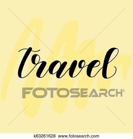 Travel Letras Para Tarjetas O Carteles En Amarillo