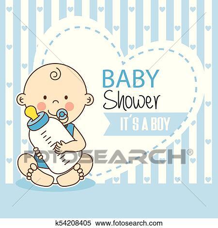 Baby Shower Boy Clipart K54208405 Fotosearch