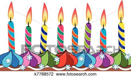 clipart of birthday candles on cake k7788572 search clip art rh fotosearch com birthday candles clipart free birthday candles clipart free