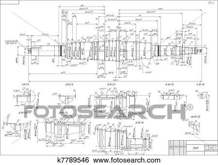 engineering drawing of shaft pdf