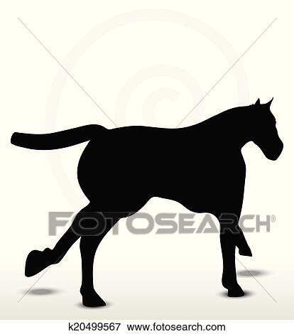 clip art of horse silhouette in running position k20499567 search