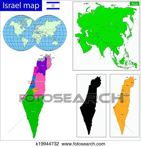 Clipart   Israel Map. Fotosearch   Search Clip Art, Illustration Murals,  Drawings And