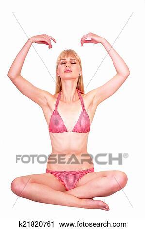 Stock Photography Of Pranayama Yoga Woman K21820761