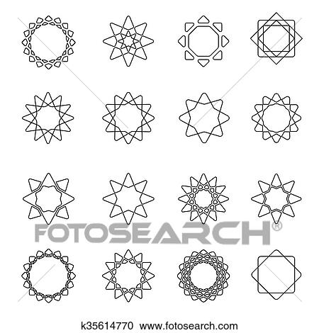 clipart of sacred geometry symbols elements k35614770 search clip