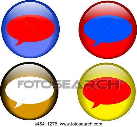 clip art of talk buttons k45411276 search clipart illustration rh fotosearch com clip art buttons for web design clip art buttons for web design