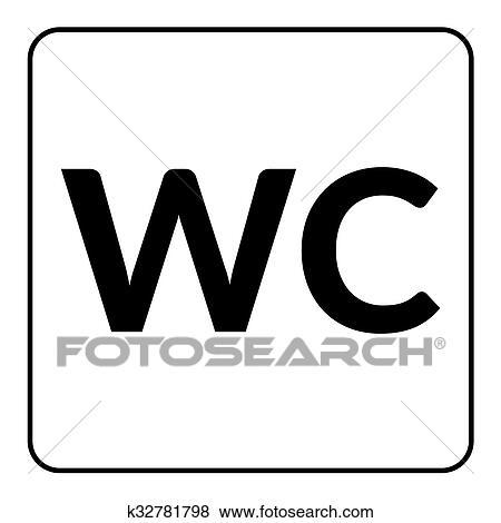 Bagno Wc Gabinetto Segno Clip Art K32781798 Fotosearch