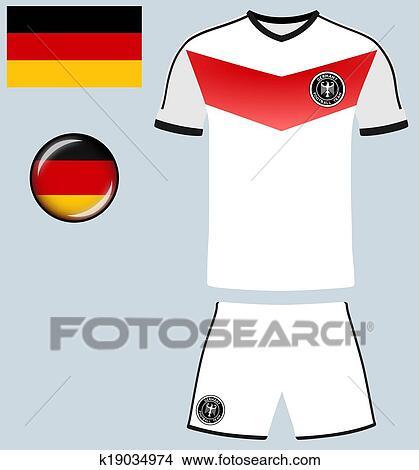 83fdaa2bd2c Clipart - Germany Football Jersey. Fotosearch