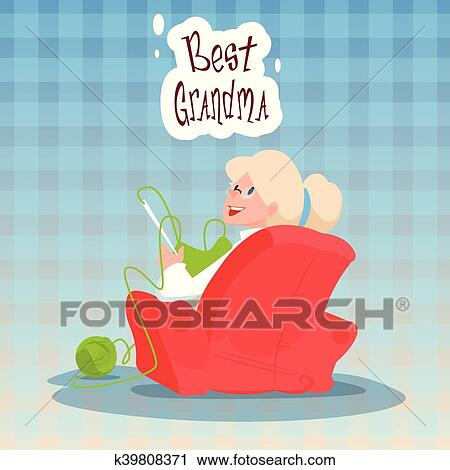 Clipart of grandmother sitting in armchair best granny grandparents clipart grandmother sitting in armchair best granny grandparents day greeting card fotosearch search m4hsunfo