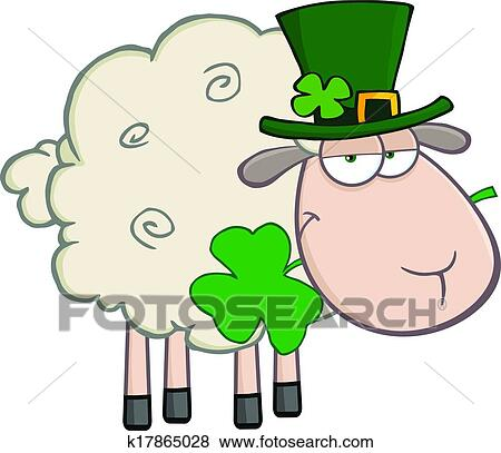 Irlandais mouton dessin anim caract re clipart - Mouton dessin anime ...