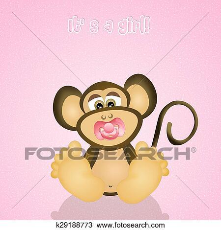 Macaco Bebe Desenho K29188773 Fotosearch