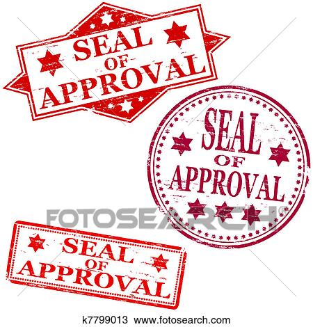 Clipart Of Seal Approval Stamp K7799013