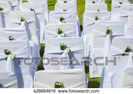Wedding Chair Setup Stock Photograph K28664816 Fotosearch