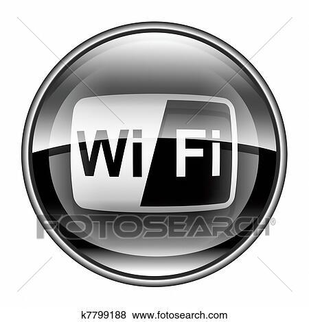 Stock Illustration - wi-fi, turm, symbol, schwarz, freigestellt ...