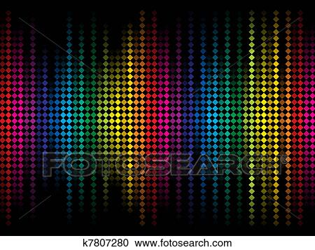Abstract Colorful Rainbow Sparkle Dots Background Stock Image