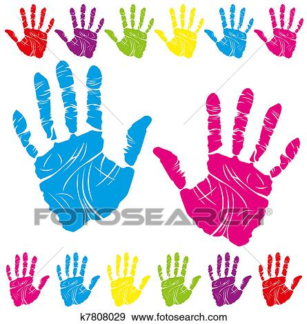 Stock Illustration Of Color Hand Print K7808029 Search Vector