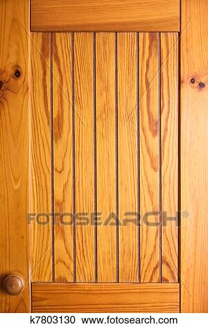 Stock Photography Of Wooden Cabinet Door K7803130 Search Stock