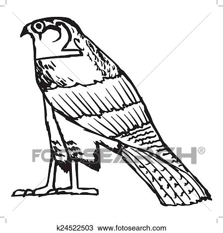 Clipart Of Falcon Ancient Egyptian Symbol K24522503 Search Clip