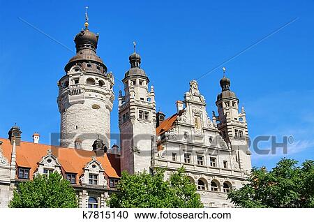 Leipzig New Townhall 02 Stock Image K7815140 Fotosearch