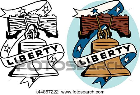 clipart of liberty bell k44867222 search clip art illustration rh fotosearch com liberty bell clipart black and white