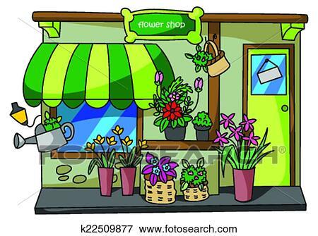 magasin fleur clipart k22509877 fotosearch. Black Bedroom Furniture Sets. Home Design Ideas