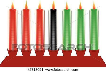 clipart of seven kwanzaa candles in vector k7818091 search clip rh fotosearch com kwanzaa clip art free kwanzaa 2017 clipart