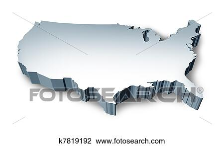 clip art united states blank 3d map fotosearch search clipart illustration posters