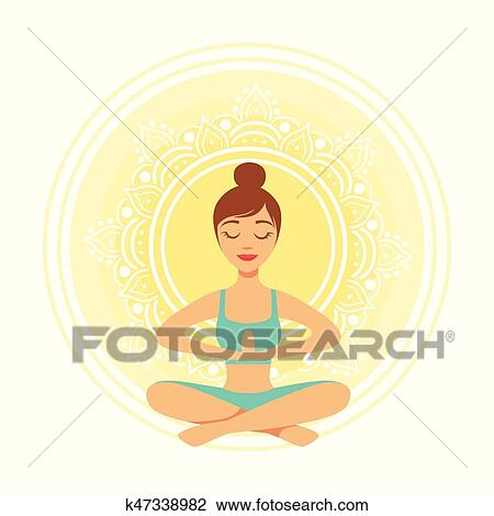 young yoga woman meditating in the lotus position with