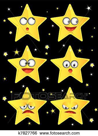 النجوم Clip Art K7827766 Fotosearch