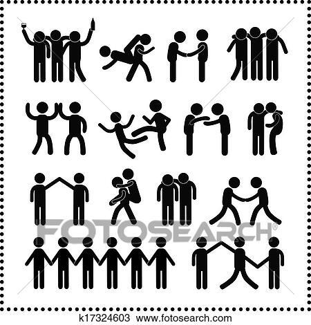 Clipart Amicizia Simbolo K17324603 Cerca Clipart Illustrazioni