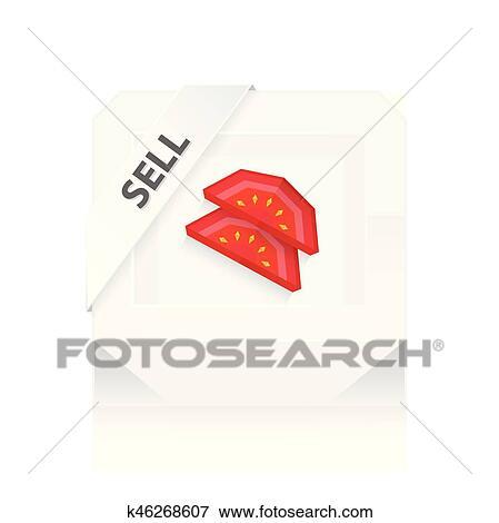 Tomato Dissect 3d Origami Icon On Stock-Vektorgrafik (Lizenzfrei ... | 470x449