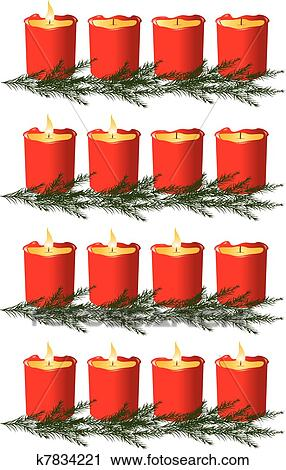 Christmas Advent Candles Clipart