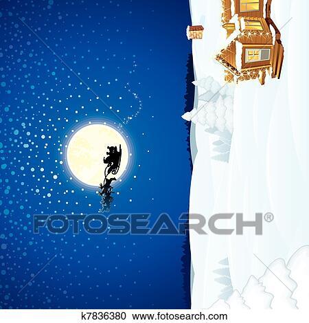 Christmas Scene.Christmas Scene Clipart
