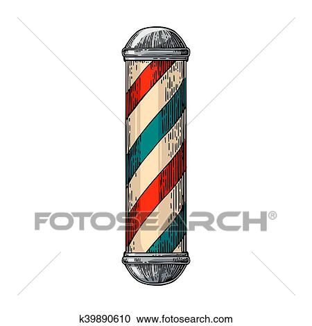clipart of classic barber shop pole k39890610 search clip art rh fotosearch com barber shop clip art images barber shop clipart logo