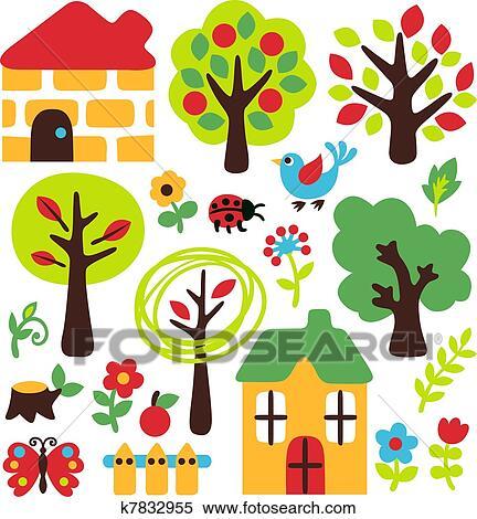 jardin dessin anim ensemble - Jardin Dessin
