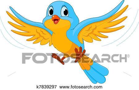 Oiseau Volant Clipart K7839297 Fotosearch