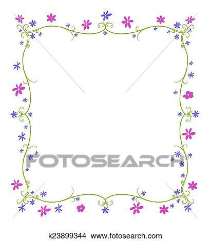Disegni Primavera O Estate Cornice Di Fiori K23899344 Cerca