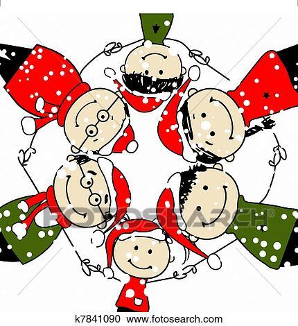 陽気 Christmas 幸せな家族 イラスト ために あなたの