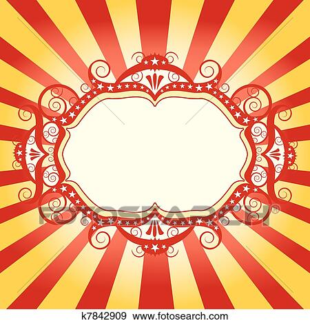 clip art of frame circus flyer k7842909 search clipart