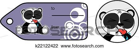 Ours Panda Mignon Dessin Animé Stickers5 Clipart