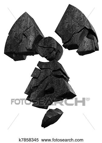 イラスト 倒れること 放射能 ロゴ K7858345 クリップアート