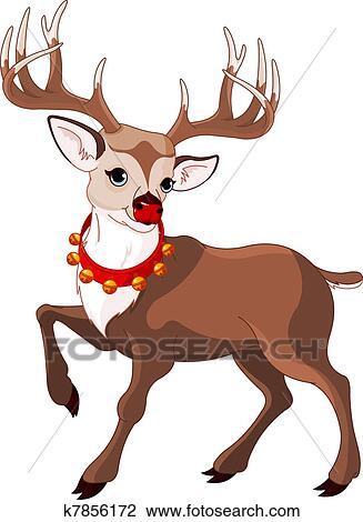 Rudolph La Renna Di Babbo Natale.Bello Cartone Animato Renna Rudolf Clipart K7856172 Fotosearch