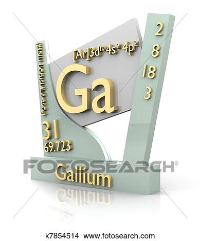 Drawings Of Gallium Form Periodic Table Of Elements V2 K7854514