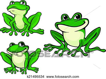 clipart of green cartoon frogs k21495534 search clip art