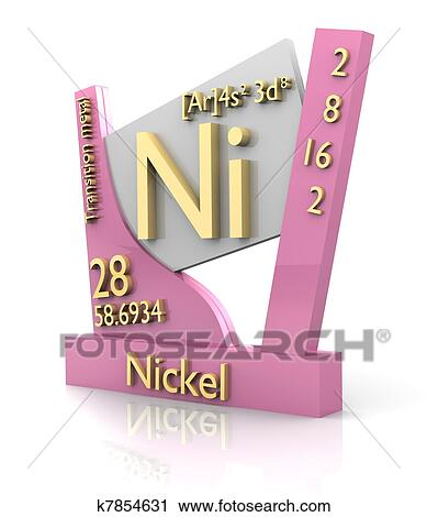 clipart of nickel form periodic table of elements v2 k7854631