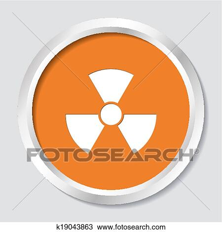 Clipart Of Radioactivity Symbol K19043863 Search Clip Art